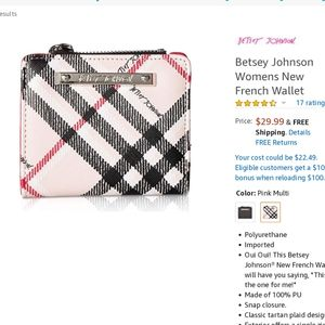 Betsey Johnson French Wallet